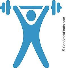 Light blue weight lifting