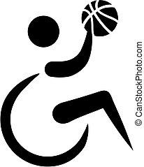 Wheelchair basketball icon