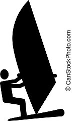 Windsurfing pictogram