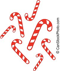 Many christmas candy canes
