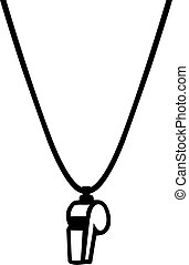 Referee whistle necklace