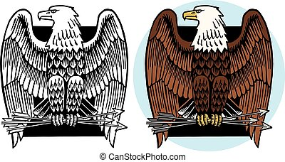 American Eagle - A graphic icon of an American bald eagle