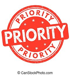 Priority sign or stamp - Priority grunge rubber stamp on...