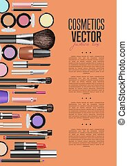 Cosmetic product Promo Brochure Page Vector Layout