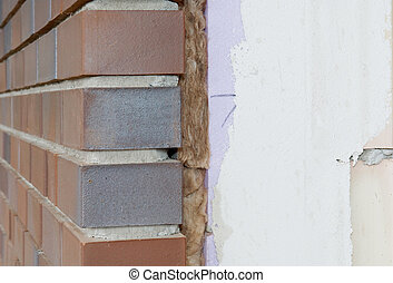 Thermal insulation at a house wall