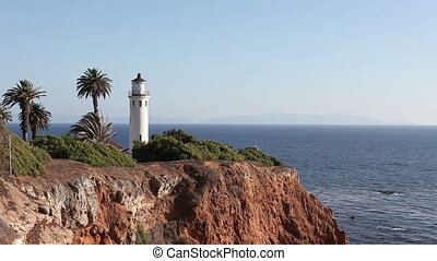Lighthouse Point Vicente in Rancho Palos Verdes, California...