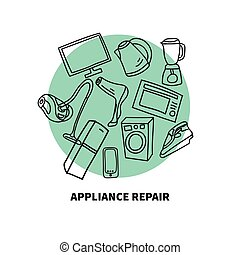 Icons for repair shop