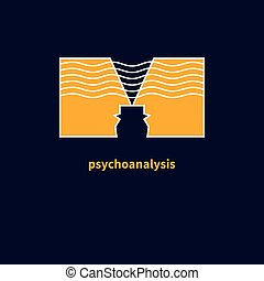 Icon of psychotherapy - Logo psychologist. Icon of...