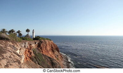 Lighthouse Point Vicente on the cliff in Rancho Palos...
