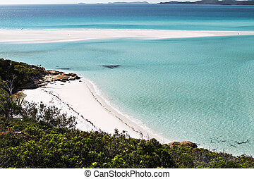 Whitsunday Beach - A beach of white sand in the Whitsunday...