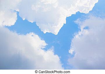 blu, nubi, cielo