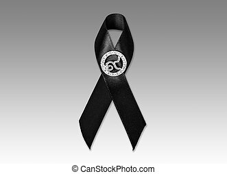 The Black Ribbon with number 9. Rama 9 of Thailand King....