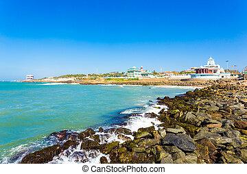 oceanfront, memoriali, linea costiera,  kanyakumari,  H