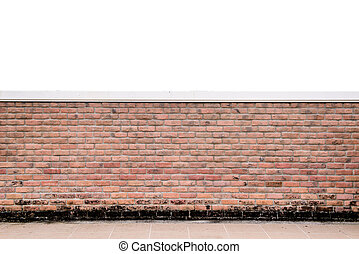 texture of decorative red brick wall fence pattern -...