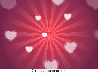 St Valentines Day background with hearts - Bright St...