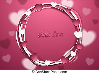 Bright abstract St Valentines Day background. Vector...