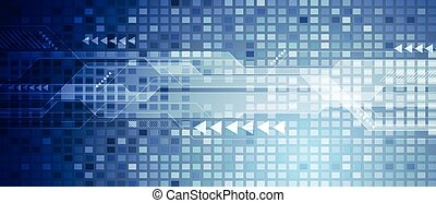 Blue abstract technology digital background - Blue abstract...