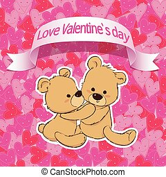 cute bear for happy Valentines day, valentine lover