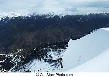winter mountains in Sochi, Russian Federation