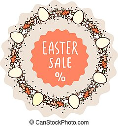 Easter sale sticker template