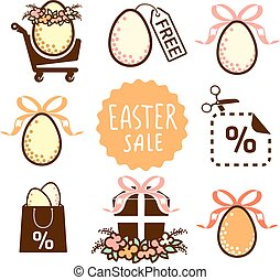 Easter sale icons