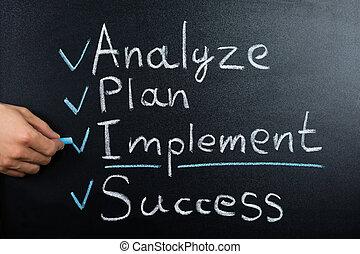 tableau noir,  plan,  Business, stratégie
