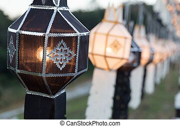 black and white festive hanging paper lantern decoratiing in...