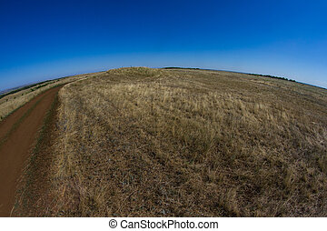 Boundless steppes with the horizon in the distance,...
