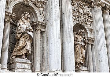 Statues of the Church Di Santa Maria Del Giglio (Venice) -...