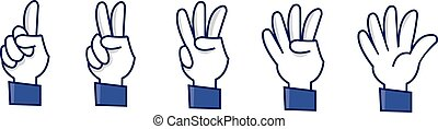 number signs - a set of funny hands making numbers
