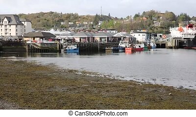 Oban harbour Scotland uk Scottish west coast port in Argyll...