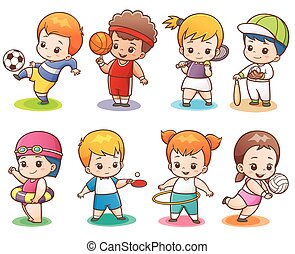 Sport character - Vector illustration of Cartoon Sport...