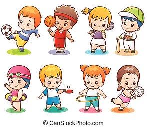 Sport character - Vector illustration of Cartoon Sport...