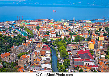 City of Rijeka aerial view, Kvarner, Croatia