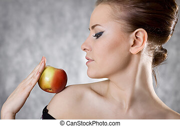 woman profile apple fine