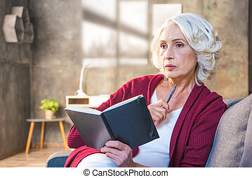 Woman making notes