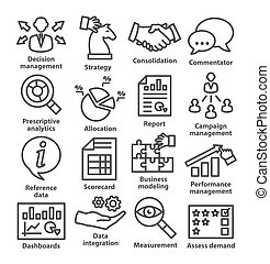 Business management icons in line style. Pack 18. - Business...