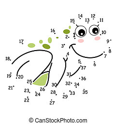 the game of the dots, frog
