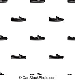 Moccasin icon in black style isolated on white background....