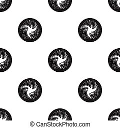 Milky way icon in black style isolated on white background....