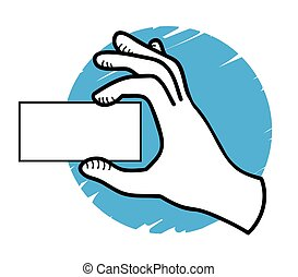 hand showing a blank card