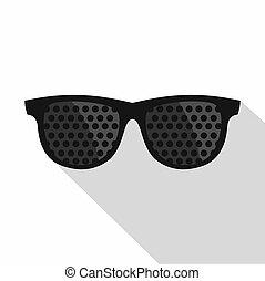 Bifocals icon, flat style - Bifocals icon. Flat illustration...