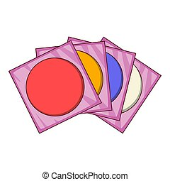CD icon, cartoon style - CD icon. Cartoon illustration of CD...