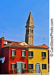 Leaning Tower of Burano - The leaning bell tower, located on...