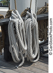 Rigging of a Sailing Ship - Rigging of the Historic Sailing...