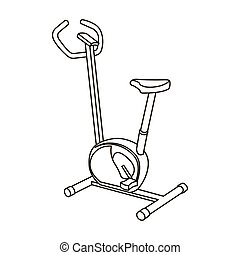 Exercise bike icon outline. Single sport icon from the big...