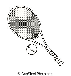 Tennis icon outline. Single sport icon from the big fitness,...