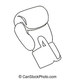 Boxing glove icon outline. Single sport icon from the big...