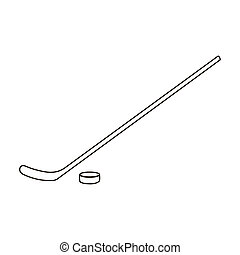 Hockey icon outline. Single sport icon from the big fitness,...
