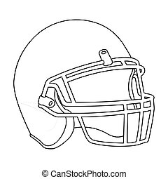 Helmet icon outline. Single sport icon from the big fitness,...
